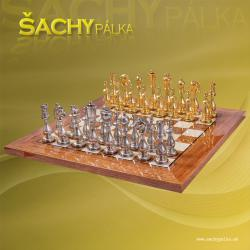 Chess sets metal Arabescato
