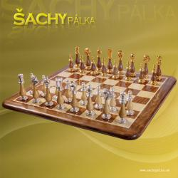 CHESS/MEN SOLID BRASS WOOD