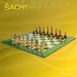 Chess Men Metal Wood G/N Plated